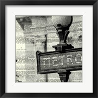Metro I Crop Framed Print