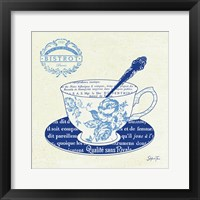 Blue Cups I Framed Print