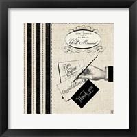 Gentleman IV Framed Print