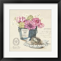 Framed Bouquet Naturel I