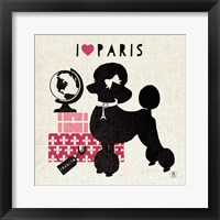 Framed Paris Pooch