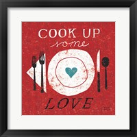Cook Up Love Framed Print