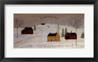 Framed Peaceful Winter Land