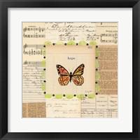 Hope Butterfly Framed Print