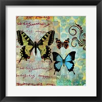 Framed Homespun Butterfly I