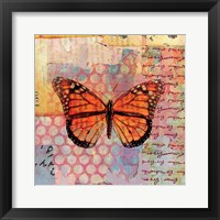 Framed Homespun Butterfly IV