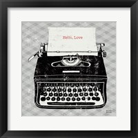 Framed Vintage Analog Typewriter