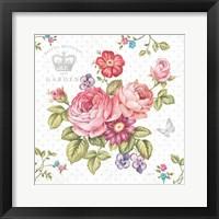 Framed Elegant Roses I