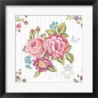 Framed Elegant Roses II