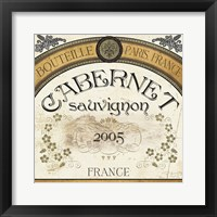 Wine Labels I Framed Print