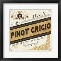 Wine Labels IV Framed Print