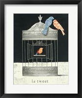 La Tweet Framed Print