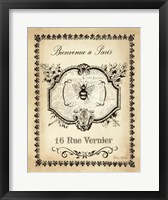 Paris Bees I Framed Print