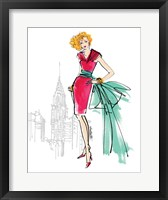 Colorful Fashion III - New York Framed Print