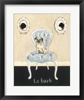 Le Bark Framed Print