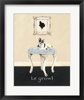 Le Growl Framed Print