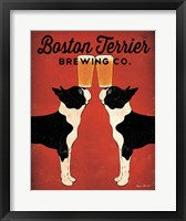 Framed Boston Terrier Brewing Co.