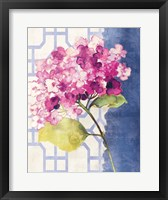 Antique Floral on White I Framed Print