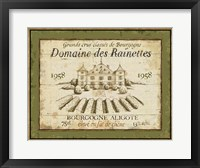 Framed French Wine Label III