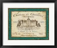 Framed French Wine Label IV