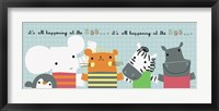 It's All Happening at the Zoo II Framed Print
