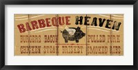 Barbeque Heaven Framed Print