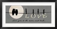 Moon Lovers I Framed Print