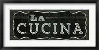 La Cuisine Chalk III Framed Print