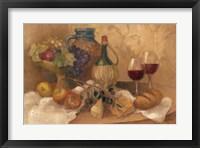 Abundant Table with Pattern Framed Print