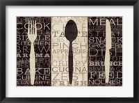 Framed Kitchen Words Trio