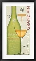 Framed Grand Vin Blanc