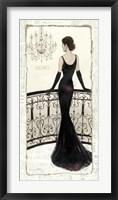 La Belle Noir Framed Print