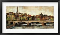 Paris Bridge I Spice Framed Print