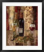 Graffiti and Wine III Framed Print