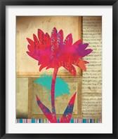 Framed Floral Notes I