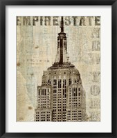 Framed Vintage NY Empire State Building