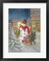 Framed Frosty the Snowman