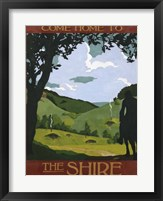 Framed Come Home To The Shire