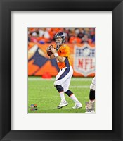 Framed Peyton Manning Football Passing