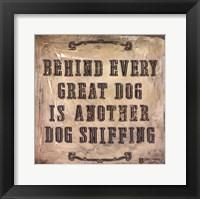 Framed Behind Every Dog