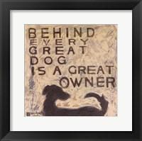Framed Great Dog