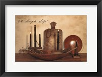 A Simple Life Framed Print