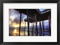 Framed Sunrise at the Pier