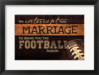 Football Season Framed Print