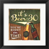 Beer 30 Framed Print