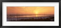 Framed Sea at dusk, Gulf of Mexico, Tigertail Beach, Marco Island, Florida, USA