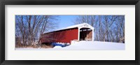 Framed Neet Covered Bridge Parke Co IN USA