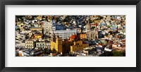 Framed High angle view of a city, Basilica of Our Lady of Guanajuato, University of Guanajuato, Guanajuato, Mexico