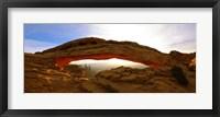 Framed Mesa Arch glowing at sunrise, Canyonlands National Park, Utah, USA