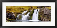 Framed Waterfall, Kirkjufellsfoss Waterfall, Myrar, Snaefellsnes, Borgarfjordur, Iceland